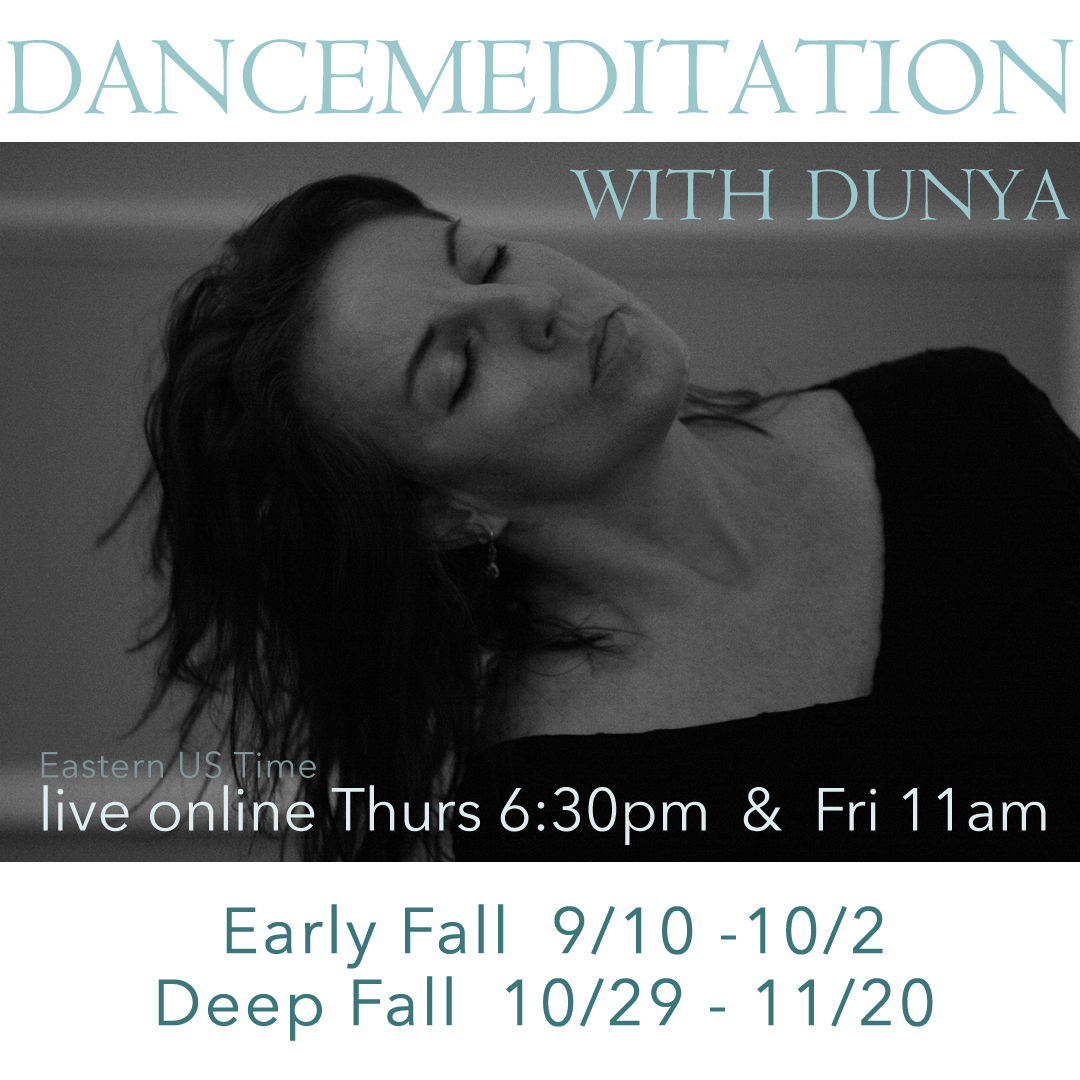 Live Online ~ Early Fall Friday Dancemeditation